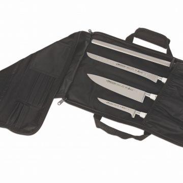 Cuchillalia – Manta / Estuche para 4 cuchillos – Arcos 690200 (Cuchillos de la foto a modo de ejemplo)