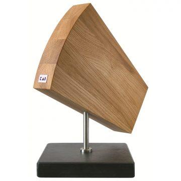 Taco para cuchillos KAI DM-0794, en madera de roble, magnético, con base de granito – Cuchillalia