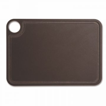 Tabla de corte Arcos 692100 de 33×23 cm, Marrón, RANURADA, en fibra de celulosa y resina – Cuchillalia