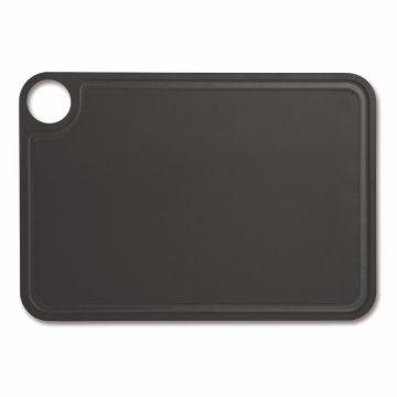 Tabla de corte Arcos 692110 de 33×23 cm, Negra, RANURADA, en fibra de celulosa y resina – Cuchillalia