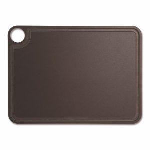 Tabla de corte Arcos 692200 de 37.7x27.7 cm, Marrón, RANURADA, en fibra de celulosa y resina - Cuchillalia