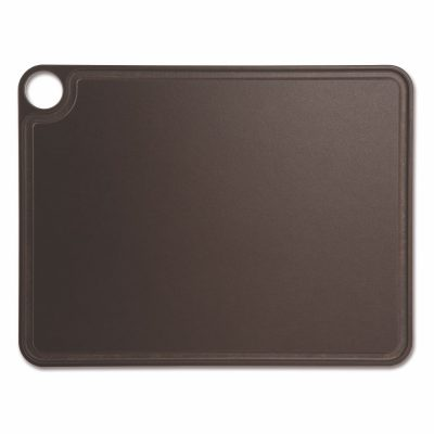 Tabla de corte Arcos 692300 de 42.7x32.7 cm, Marrón, RANURADA, en fibra de celulosa y resina - Cuchillalia