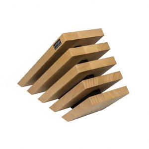 Taco de madera inclinado imantado para 10 cuchillos, Artelegno 79 - Cuchillalia
