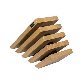 Taco de madera inclinado imantado para 10 cuchillos, Artelegno 79 – Cuchillalia