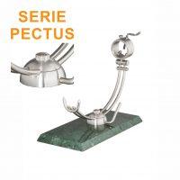 """Soporte jamonero Afinox Serie PECTUS """"PE-MV"""" con base de Marmol Verde y cabezal giratorio"""