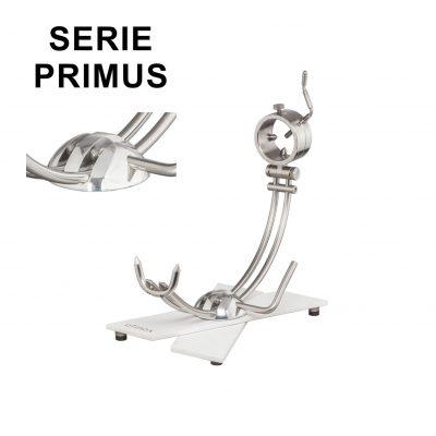 "Soporte jamonero Afinox Serie PRIMUS Modelo X ""PRX-K"" con base de Krion y cabezal giratorio"
