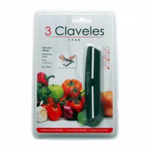 Blister de la guía para afilado de cuchillos con piedra - 3 Claveles 9419 - Cuchillalia