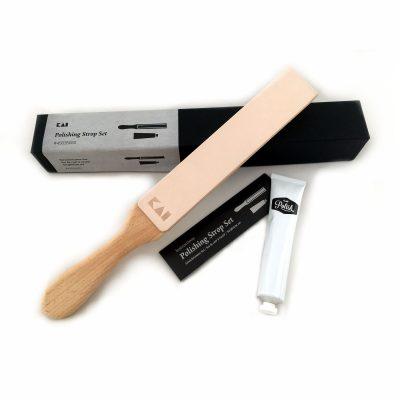 Asentador de cuero KAI 45035020 para cuchillos - Cuchillalia