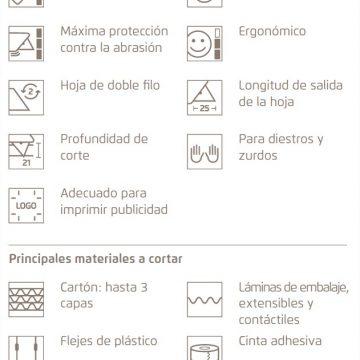 Características del cúter de seguridad MARTOR SECUNORM PROFI25 – Cuchillalia