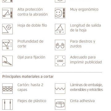 Características del cúter de seguridad Martor Secunorm Profi Light – Cuchillalia