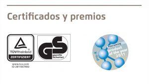 Certificados y premios del cúter de seguridad Martor Secunorm Profi Light - Cuchillalia