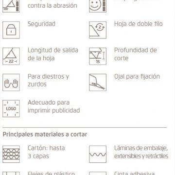 Características del cúter de seguridad Martor Secunorm Mizar – Cuchillalia