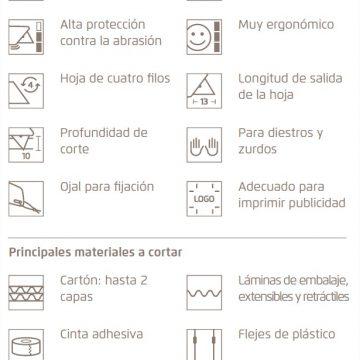 Características del cúter de seguridad MARTOR SECUNORM 175 – Cuchillalia