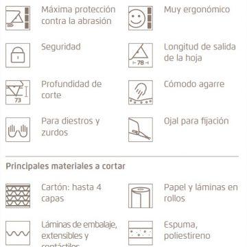 Características del cutter de seguridad MARTOR SECUNORM 380 – Cuchillalia