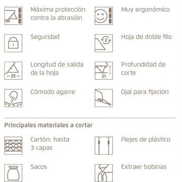 Características del cúter de seguridad MARTOR SECUPRO 625 – Cuchillalia