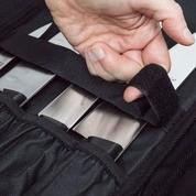 Maletín para 12 cuchillos - 3 Claveles 1715 - detalle interior - Cuchillalia
