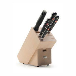 Juego de cuchillos en taco de madera - 4 cuchillos y chaira - Wüsthof Classic 9832