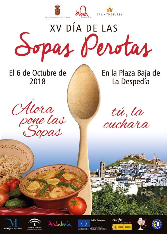 Cartel de las sopas perotas en Álora 2018