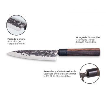 Características del cuchillo de verduras de 13,5 cm de hoja – 3 Claveles Osaka 1010 – Cuchillalia