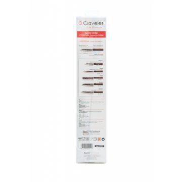 Reverso del estuche del cuchillo de cocina de 16 cm de hoja – 3 Claveles Osaka 1011 – Cuchillalia