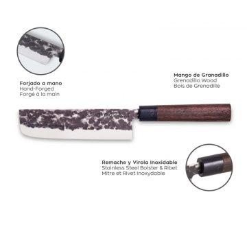 Características del cuchillo santoku de 18 cm de hoja – 3 Claveles Osaka 1012 – Cuchillalia