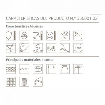 Especificaciones del cúter de seguridad Martor Secumax 350 – Cuchillalia