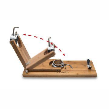 Como se pliega el soporte jamonero con cabezal giratorio 3 Claveles 1736 – Cuchillalia