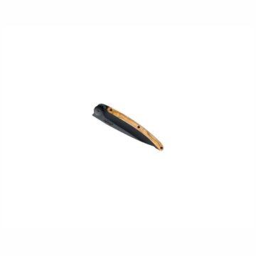 Navaja Deejo 27g Black con mango de madera de olivo | Cerrada | Cuchillalia