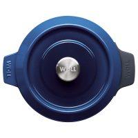 Cocotte de hierro fundido de 24 cm con tapa - Woll Azul Cobalto - Planta - Cuchillalia