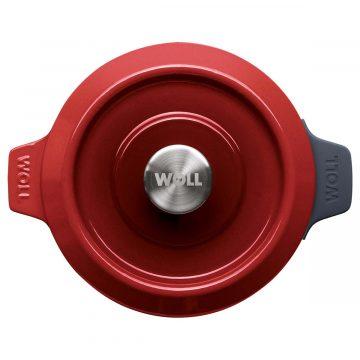 Cocotte de hierro fundido de 20 cm con tapa – Woll Rojo Chili – Planta – Cuchillalia