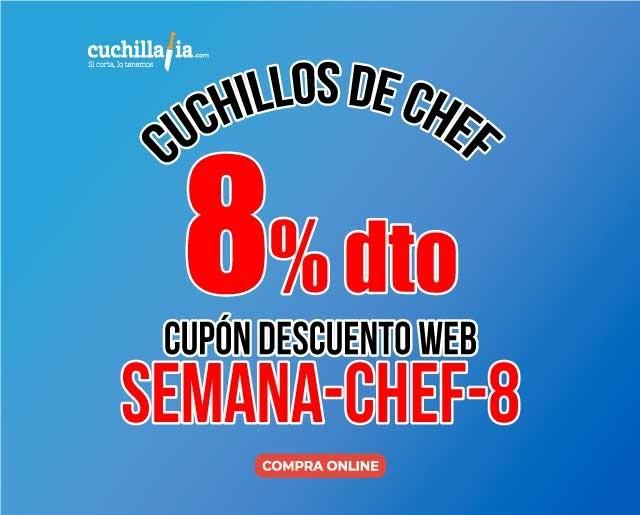 Descuento del 8% en todos los cuchillos de Chef