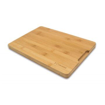 Tabla de madera de bambú de 33×23 cm – 3 Claveles 4665