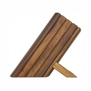 Taco o bloque de madera para cuchillos KAI Shun DM-0810 (vista lateral) – Cuchillalia
