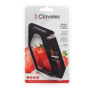 Blister del afilador para cuchillos y tijeras – 3 Claveles 9426 – Cuchillalia