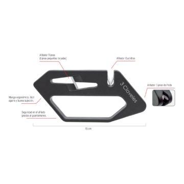 Características del afilador para cuchillos y tijeras – 3 Claveles 9426 – Cuchillalia
