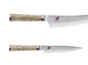 Cuchillos japoneses de la serie Miyabi 5000 MCD de mango blanco - Cuchillalia