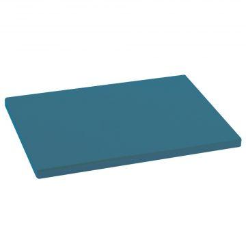 Tabla para cortar de color turquesa de 33x23x1,5 cm de Metaltex fabricada en polietileno
