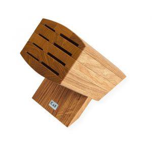 Taco de madera de roble para 8 cuchillos - KAI 6600-BN